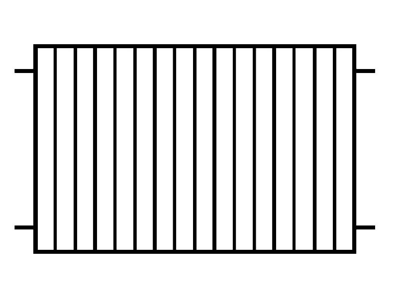 PRZĘSŁO OGRODZENIOWE - P25
